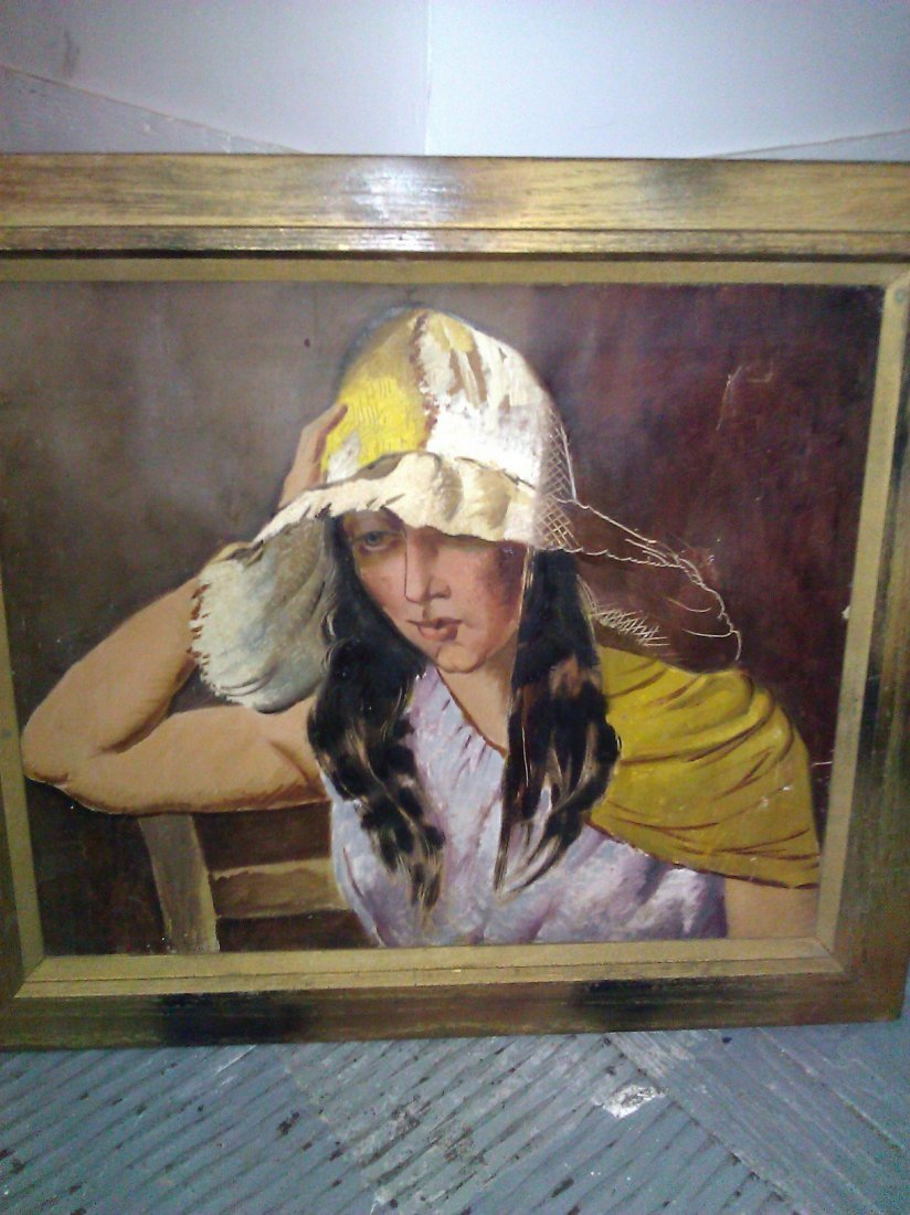 Unsigned 1920's Oil on Canvas