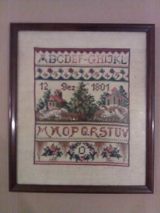 Unsigned early 19th century hand made textile