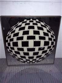 Victor Varsaley- oil on reverse glass