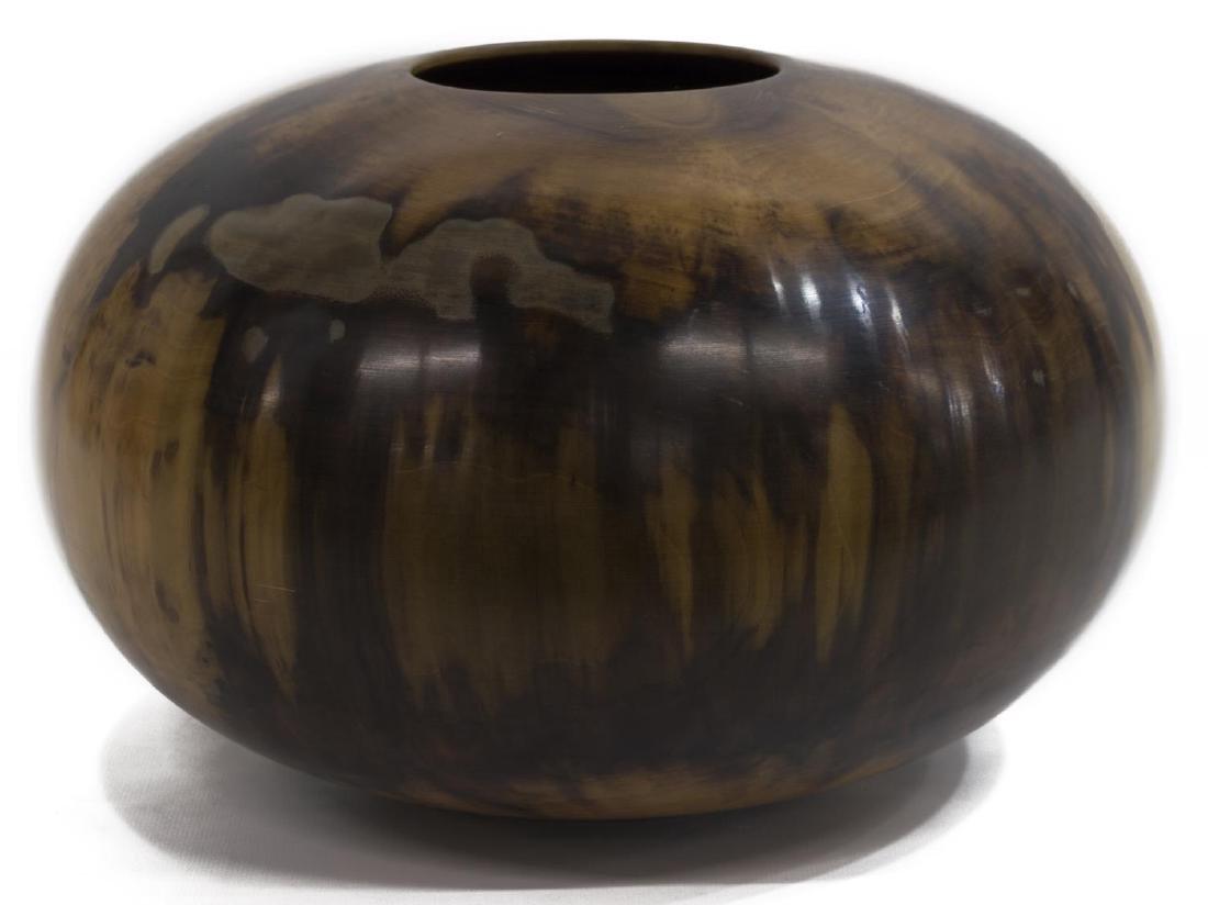 ED MOULTHROP FIGURED TULIPWOOD VESSEL, SIGNED - 3