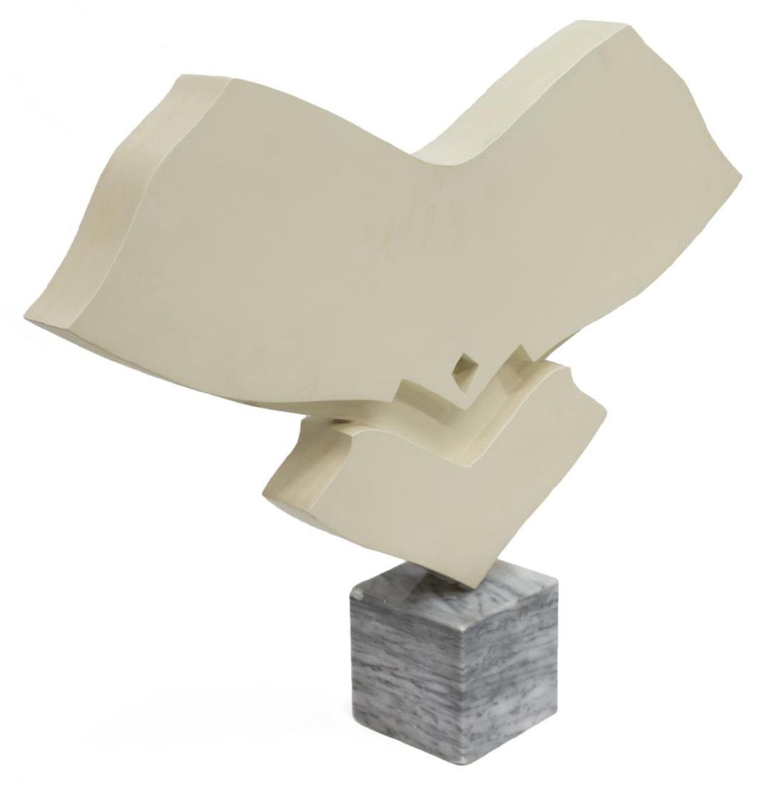 JACK YOUNGERMAN ABSTRACT SCULPTURE ON MARBLE BASE - 3