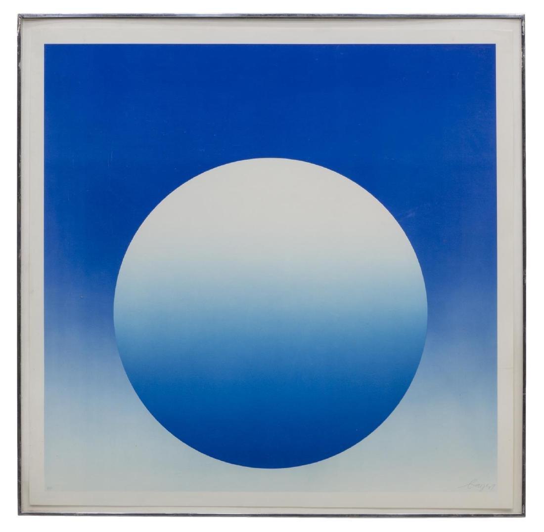 HERBERT BAYER (1900-85) WEIGHTLESS BLUE SERIGRAPH