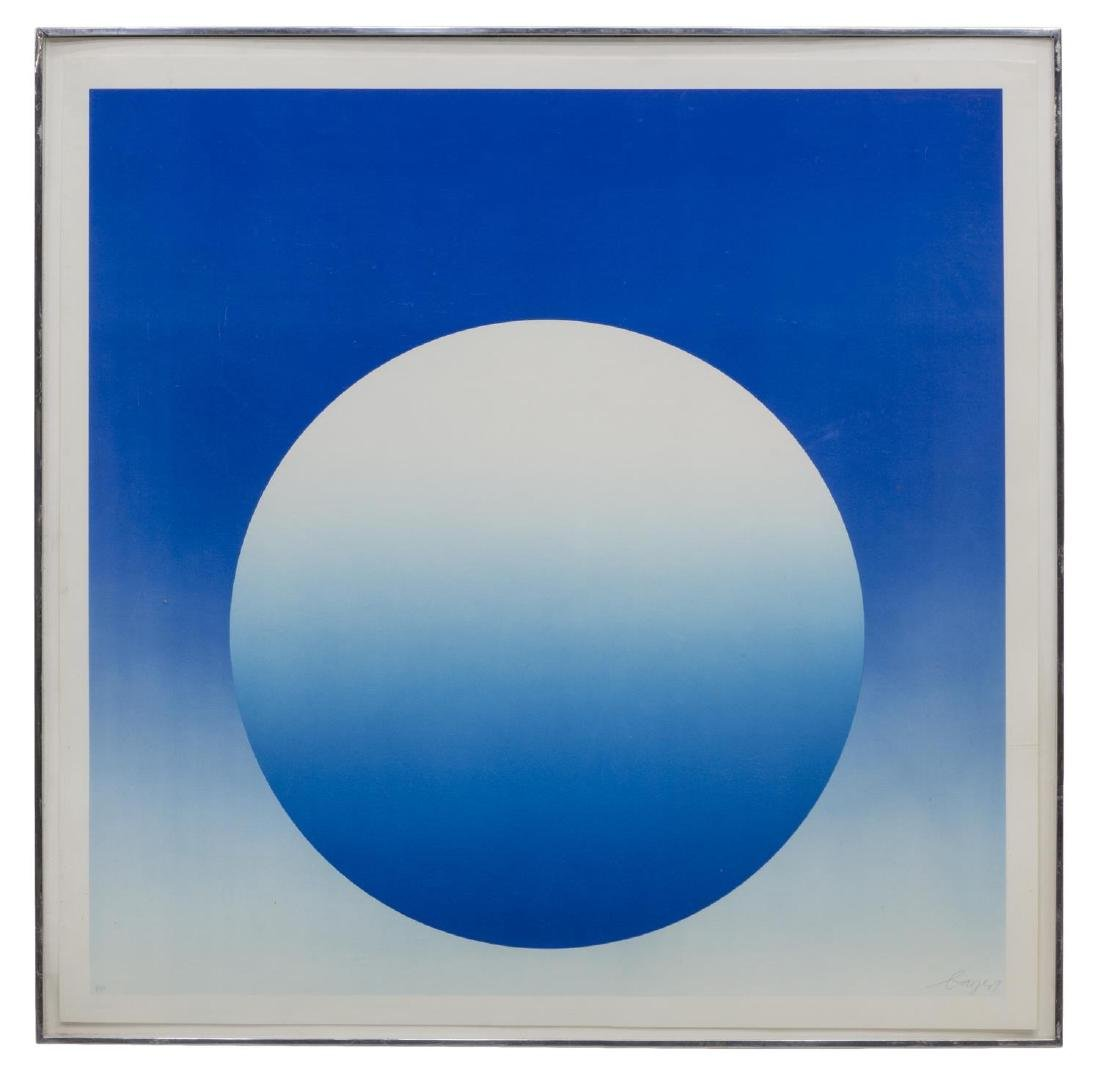 HERBERT BAYER (1900-85) WEIGHTLESS BLUE SERIGRAPH
