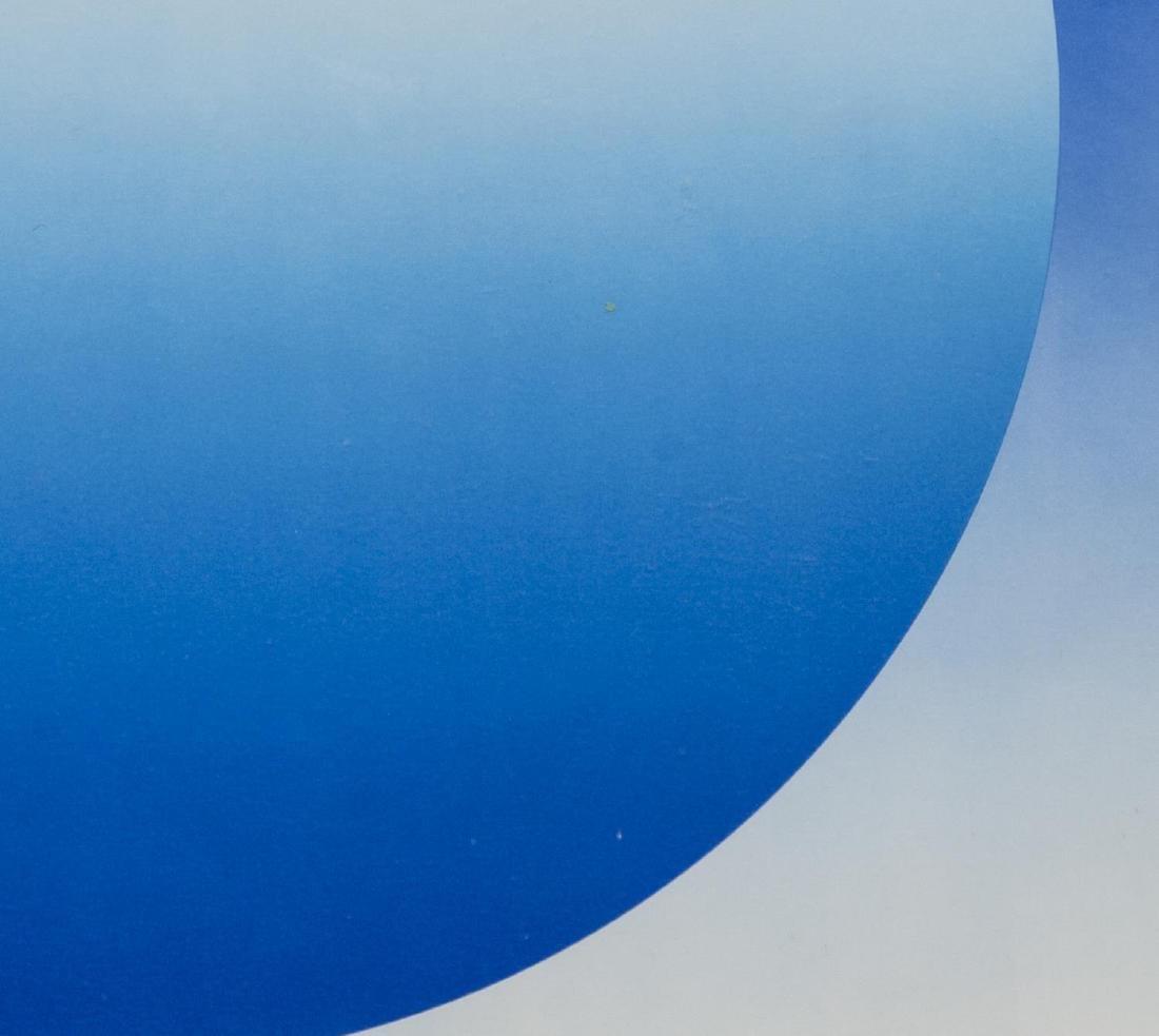 HERBERT BAYER (1900-85) WEIGHTLESS BLUE SERIGRAPH - 2