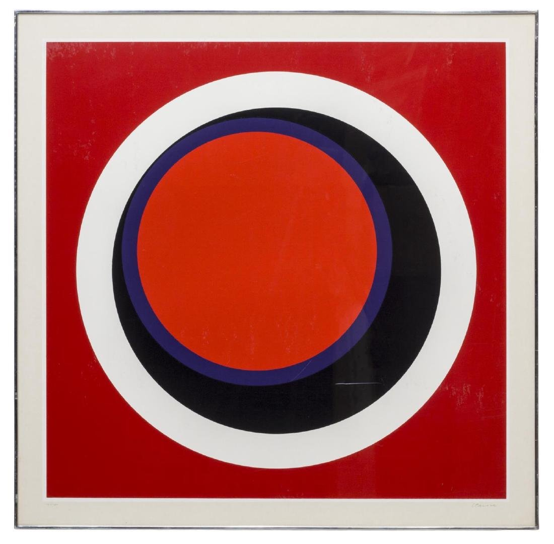 GENEVIEVE CLAISSE (FRENCH B 1936) OP ART SERIGRAPH