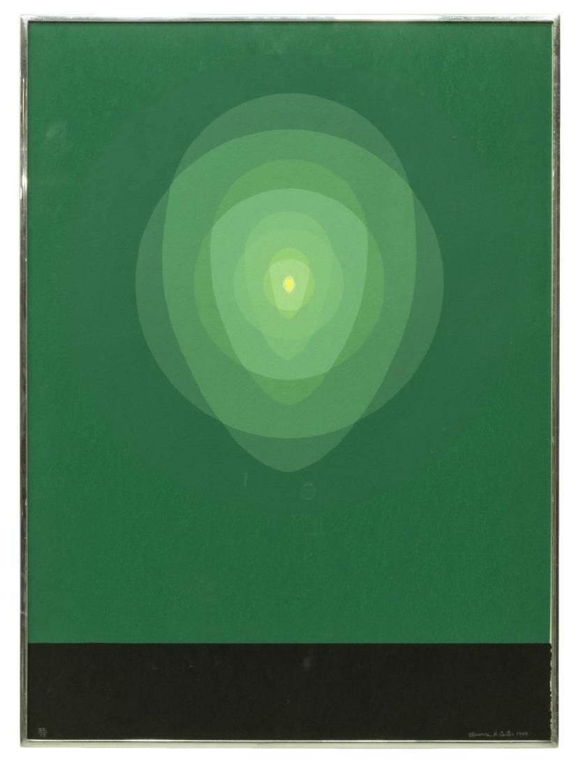CLARENCE CARTER 'MANDALA III' SCREENPRINT, 1969