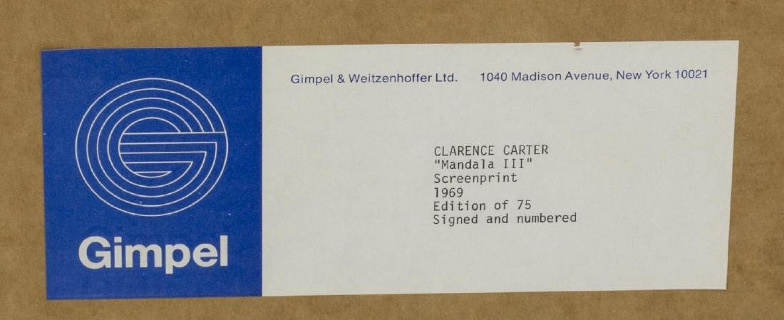 CLARENCE CARTER 'MANDALA III' SCREENPRINT, 1969 - 4