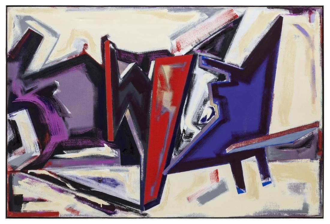 DENNIS ASHBAUGH (NY 1946) 'MEET ON MY TERMS' 1981