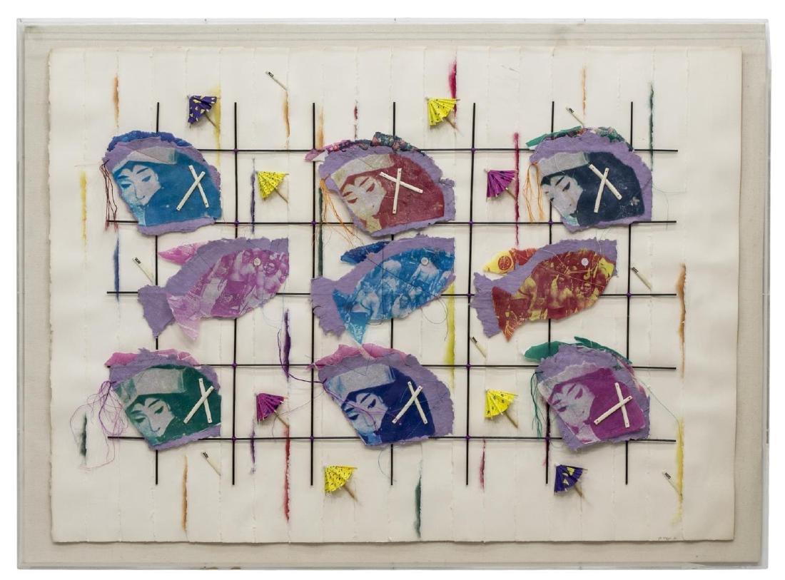 FRAMED PAPER & MIXED MEDIA ARTWORK, RIA MCHUGH '82