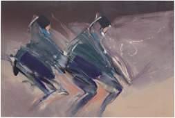 JEAN RICHARDSON OK 1940 NATIVE DANCERS MONOTYPE
