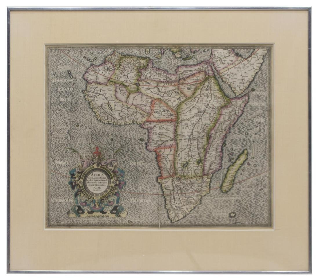 ANTIQUE MAP OF AFRICA, GERHARD MERCATOR JR.17TH C - 2