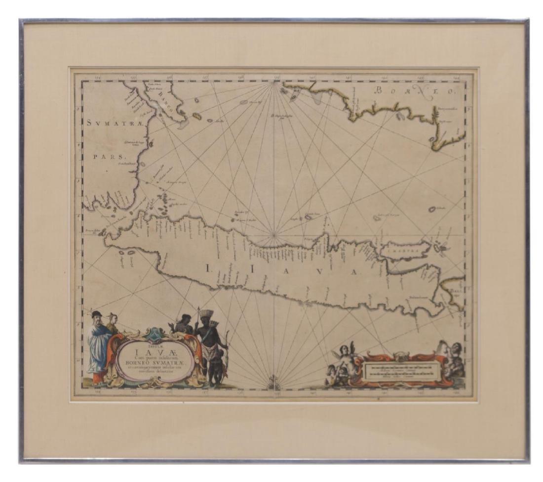 ANTIQUE MAP OF ISLE OF JAVA, JAN JANNSON 17TH C - 2