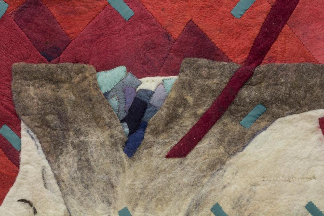 ABSTRACT FELTED WOOL LANDSCAPE HANGING ARTWORK - 2