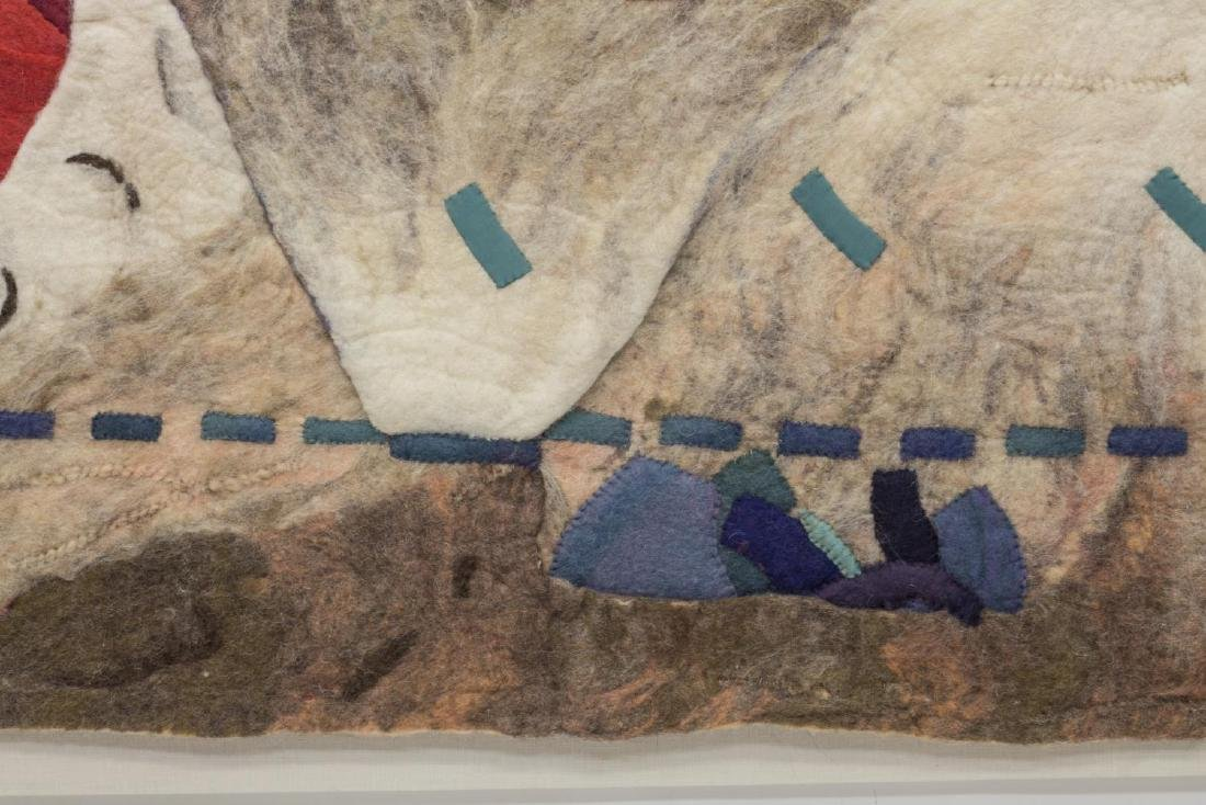 ABSTRACT FELTED WOOL LANDSCAPE HANGING ARTWORK - 3