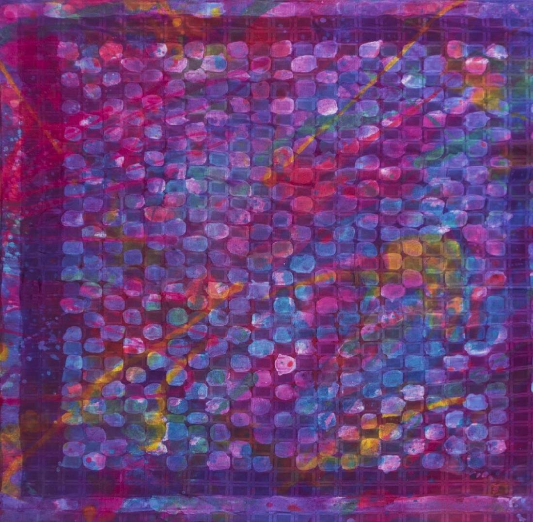 (2) SUE BENNER HAND DYED SILK WALL HANGINGS, 1983 - 3