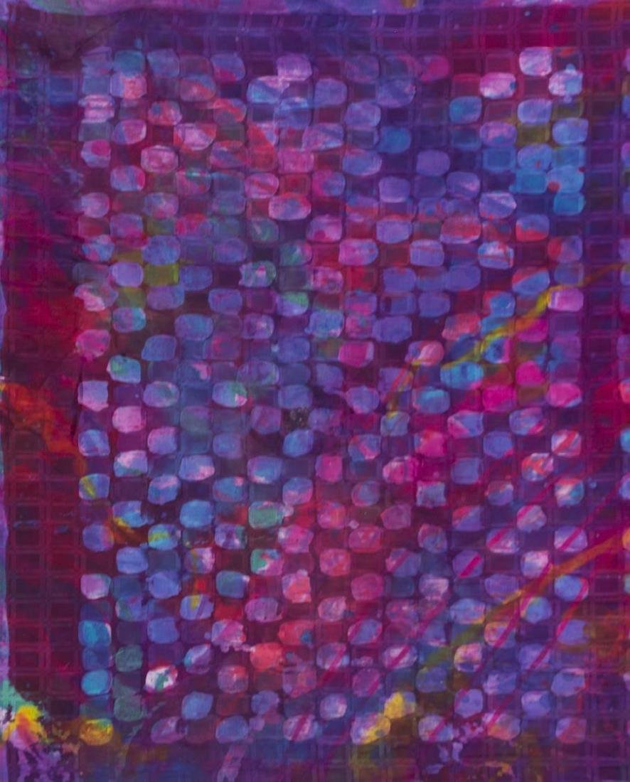 (2) SUE BENNER HAND DYED SILK WALL HANGINGS, 1983 - 4