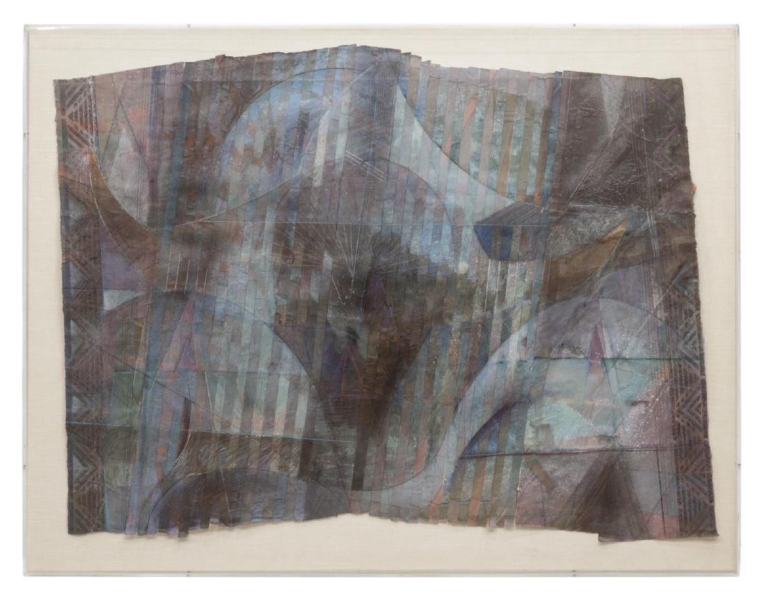 DAVID JANSHESKI (B. 1954) COLLAGE PAPER ARTWORK