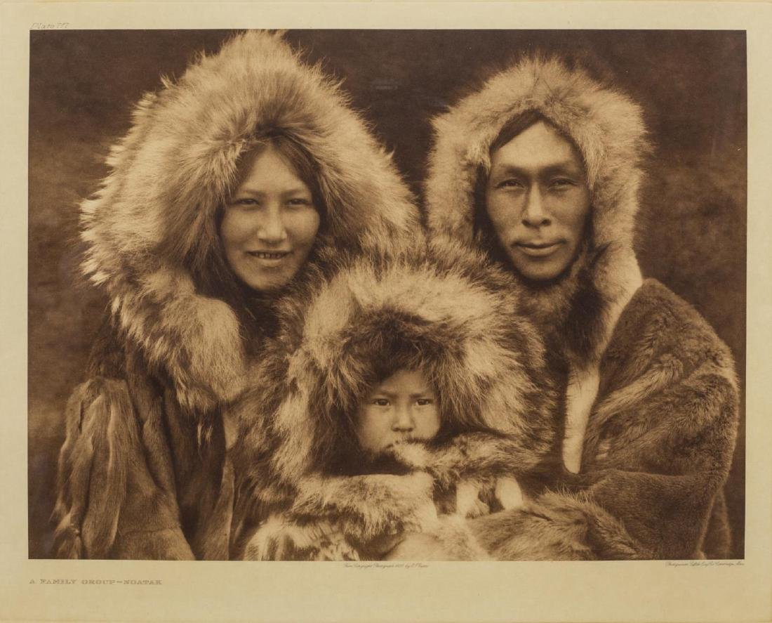 EDWARD S. CURTIS PHOTOGRAVURE, FAMILY GROUP NOATAK