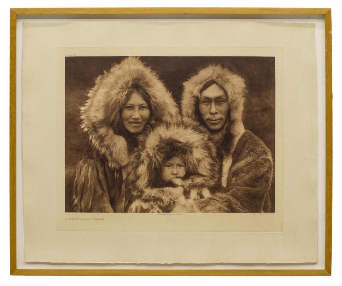 EDWARD S. CURTIS PHOTOGRAVURE, FAMILY GROUP NOATAK - 2