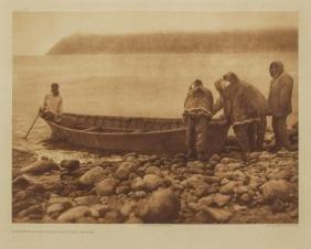 EDWARD S. CURTIS PHOTOGRAVURE, DIOMEDE ISLAND