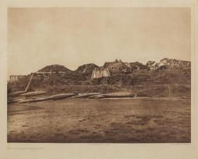 EDWARD S. CURTIS PHOTOGRAVURE, VILLAGE HOOPER BAY