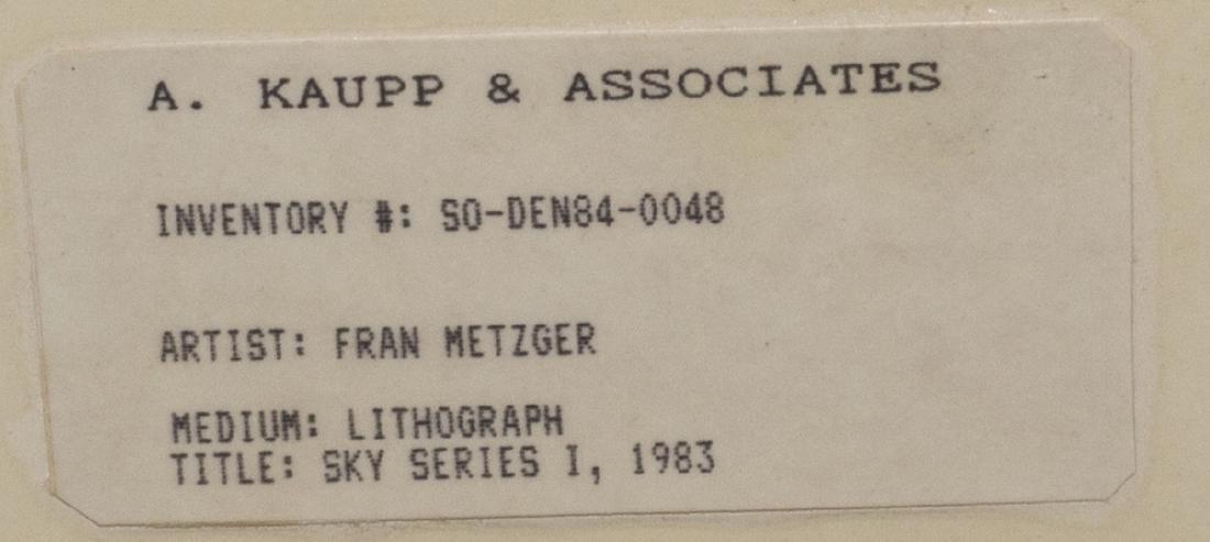 FRAMED LITHO WESTERN LANDSCAPE, FRAN METZGER - 5