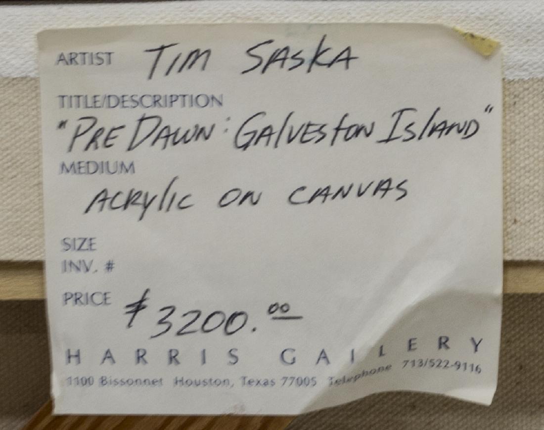 TIM SASKA (1935-2006) GALVESTON DAWN PAINTING - 5