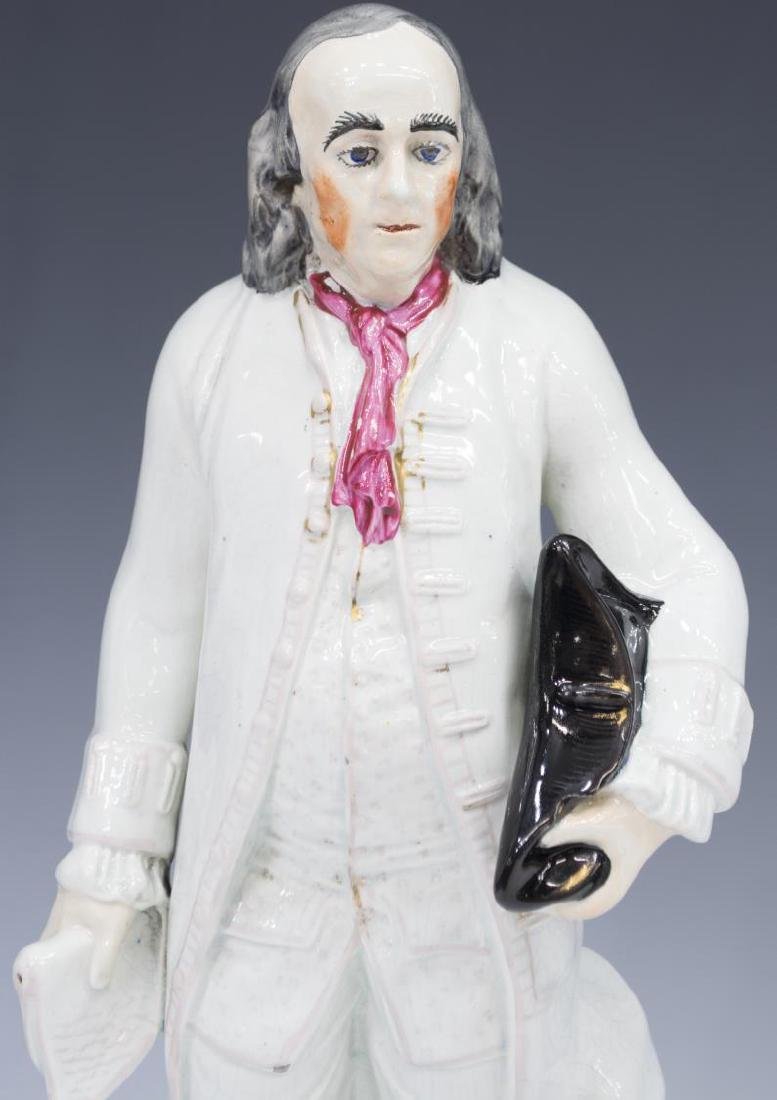 19TH C. STAFFORDSHIRE FIGURE, BENJAMIN FRANKLIN - 4