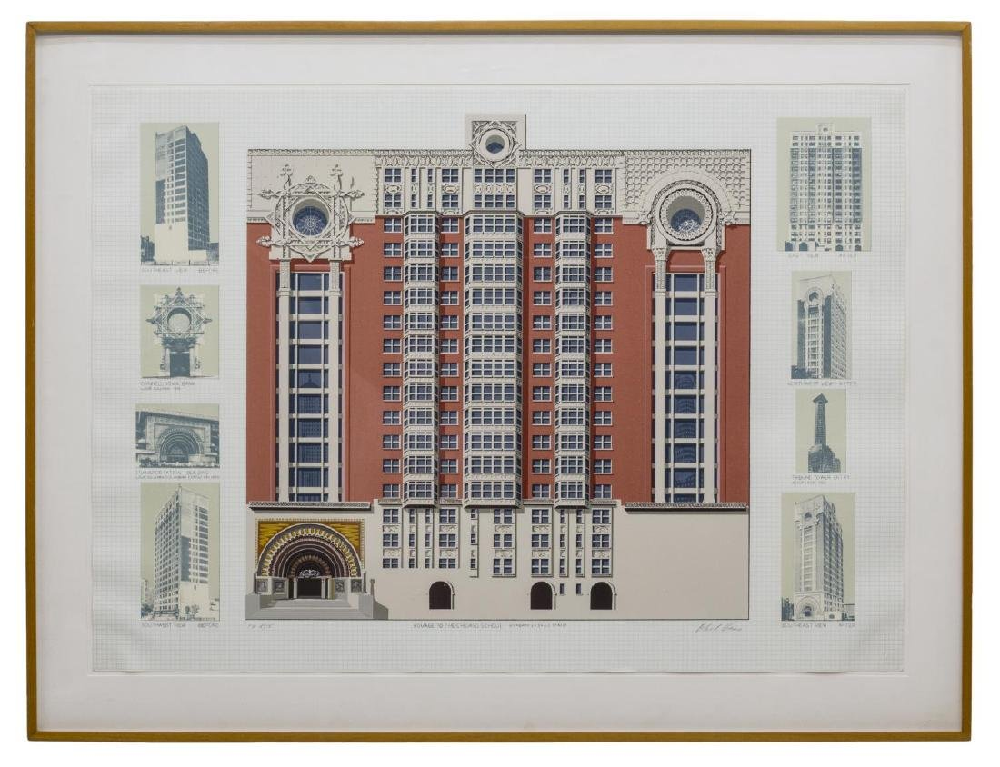 FRAMED RICHARD HAAS SERIGRAPH, 'CHICAGO SCHOOL'