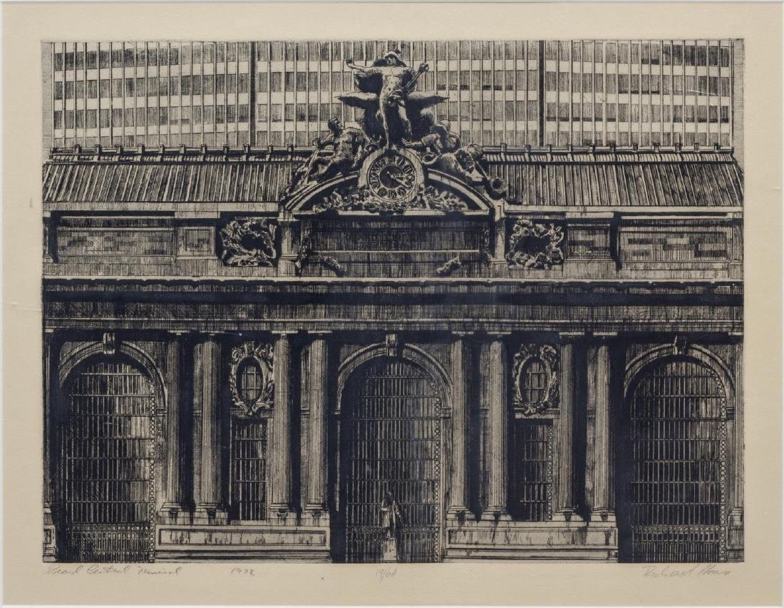 RICHARD HAAS (B. 1936) GRAND CENTRAL ENGRAVING
