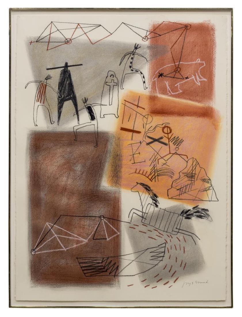 JAUNE QUICK-TO-SEE SMITH (B. 1940) EL MORRO #66 M