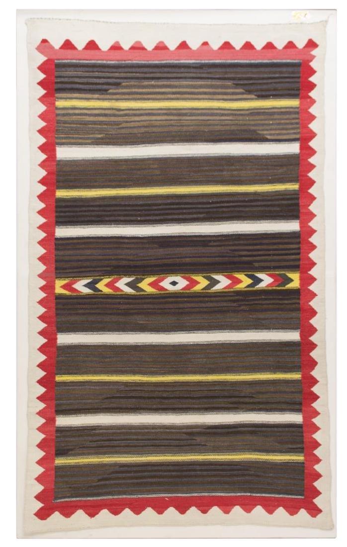 NAVAJO TRANSITIONAL RUG, C. 1890-1910