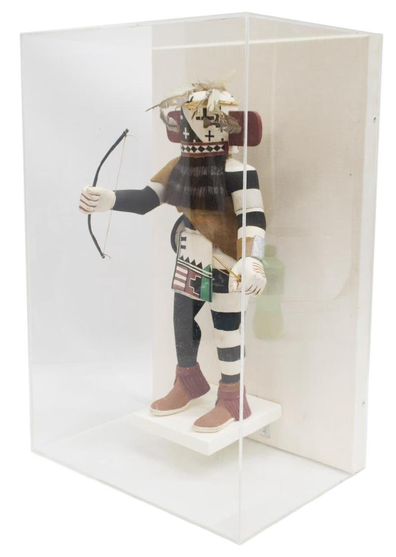 CASED NATIVE AMERICAN HOPI KACHINA EWIRO-WARRIOR - 2
