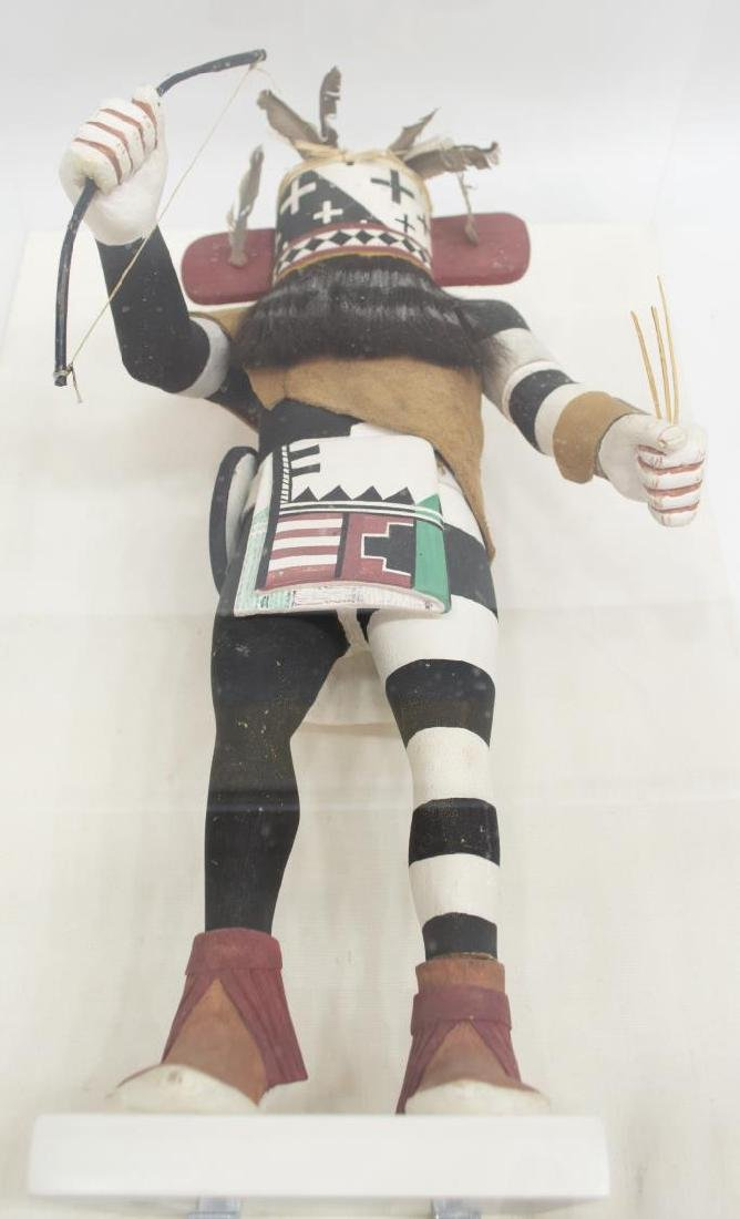 CASED NATIVE AMERICAN HOPI KACHINA EWIRO-WARRIOR - 5