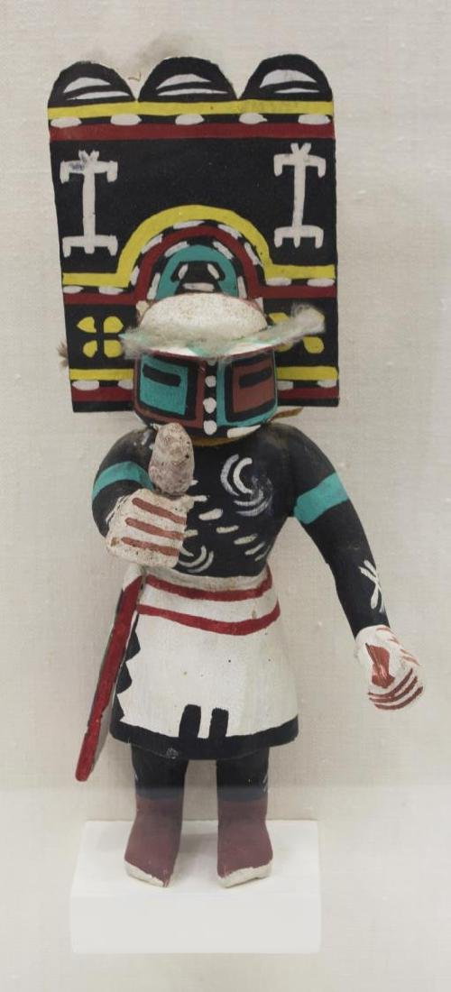 "CASED NATIVE AMERICAN HOPI ""SIO HEMIS"" KACHINA"