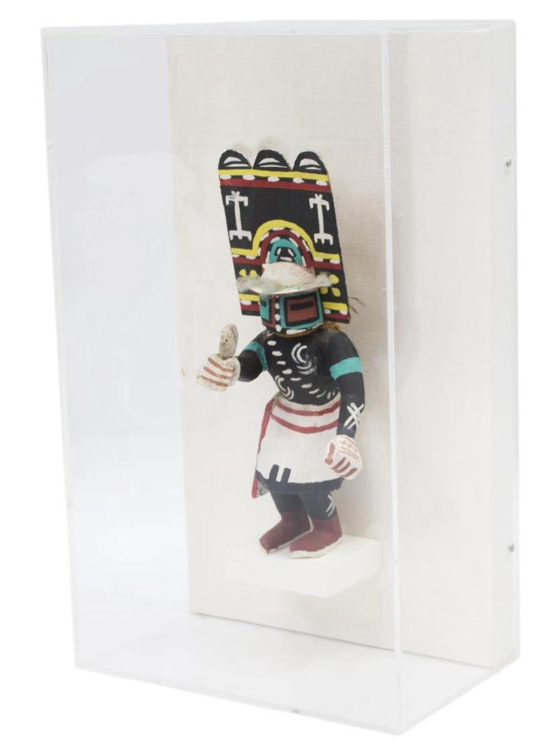 "CASED NATIVE AMERICAN HOPI ""SIO HEMIS"" KACHINA - 2"