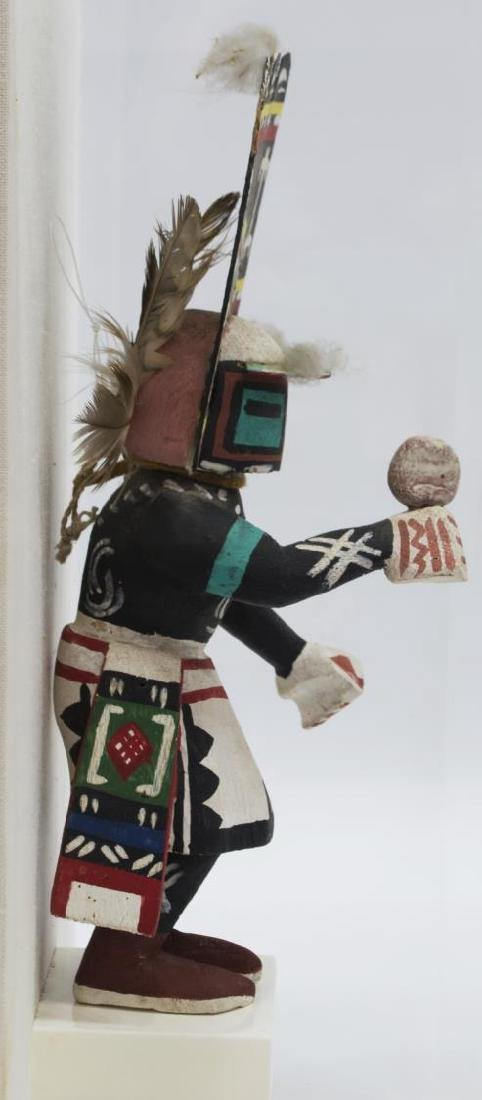 "CASED NATIVE AMERICAN HOPI ""SIO HEMIS"" KACHINA - 4"