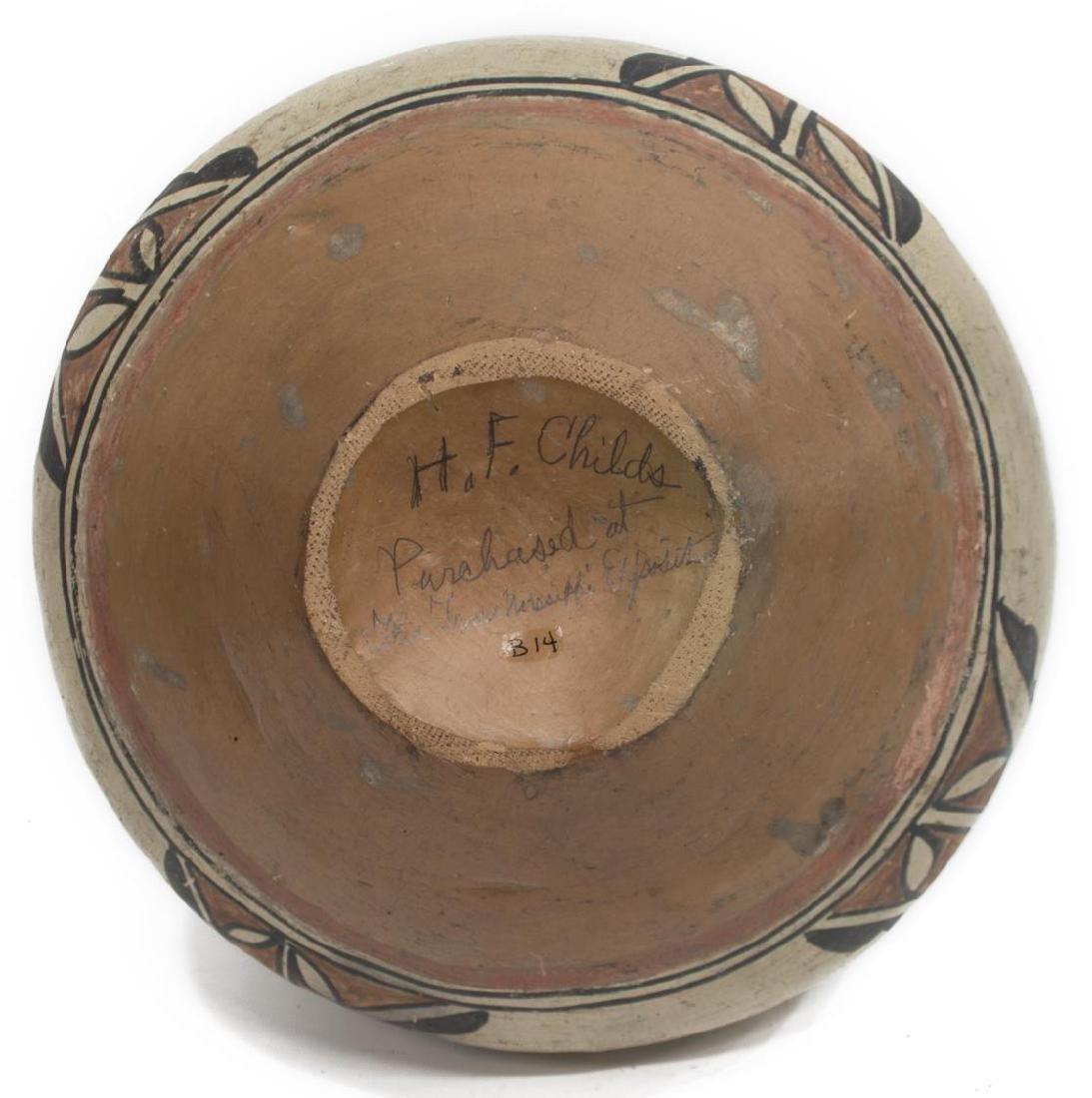 SAN ILEDFONSO POLYCHROME JAR, C. 1900-1915 - 5