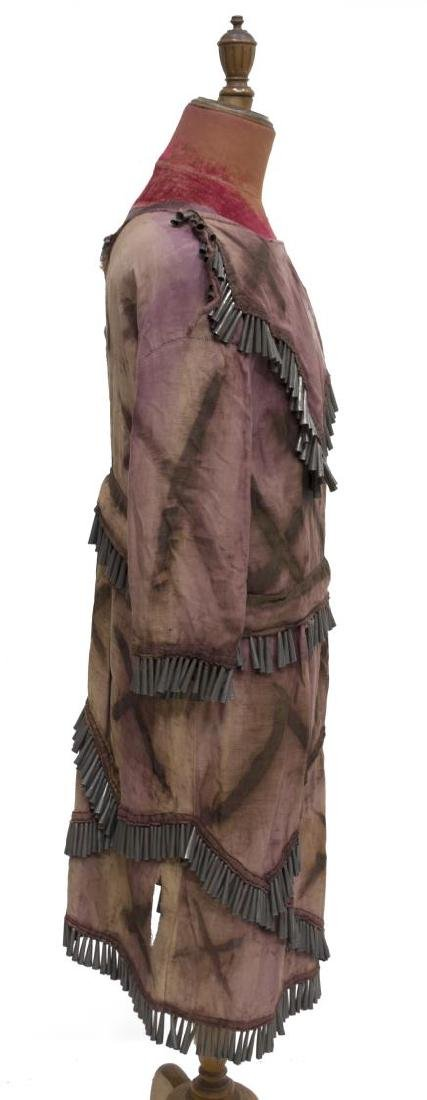 NATIVE AMERICAN PAINTED CLOTH TIN CONE DRESS - 3