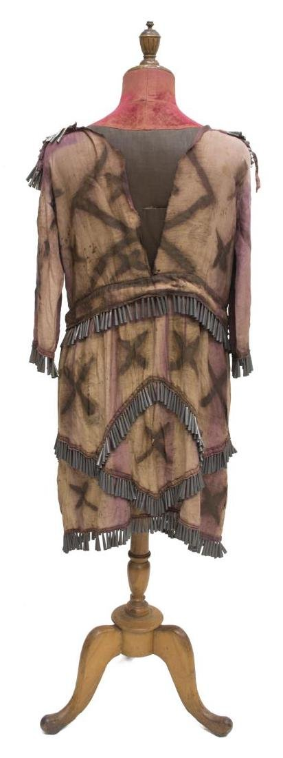 NATIVE AMERICAN PAINTED CLOTH TIN CONE DRESS - 6