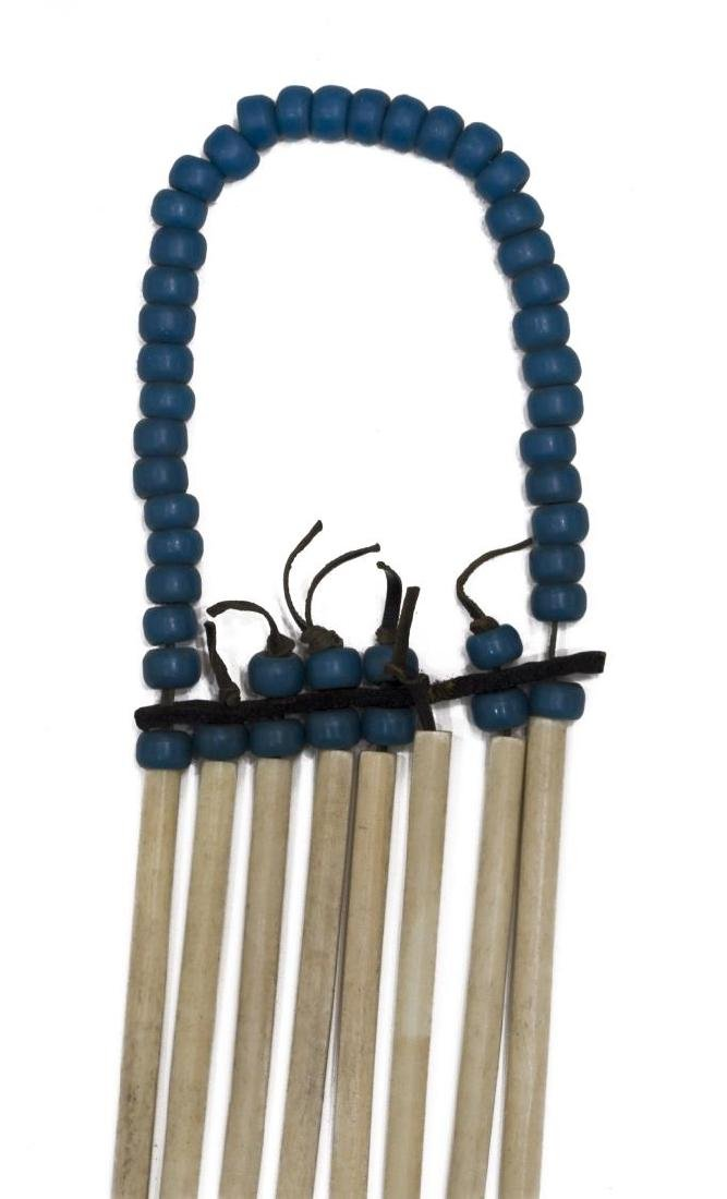 NATIVE AMERICAN BEADED BUFFALO & BONE BREASTPLATE - 5