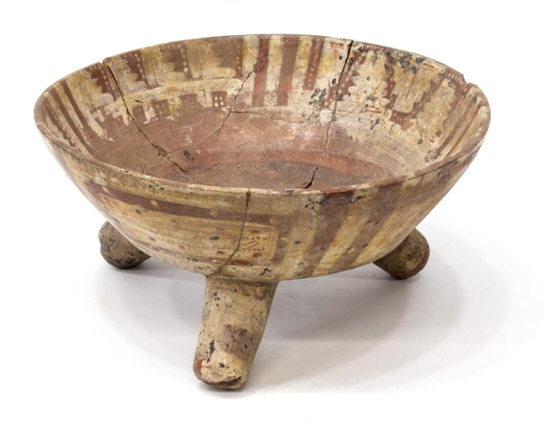 POST-CLASSIC PRECOLUMBIAN TRIPOD BOWL, MEXICO