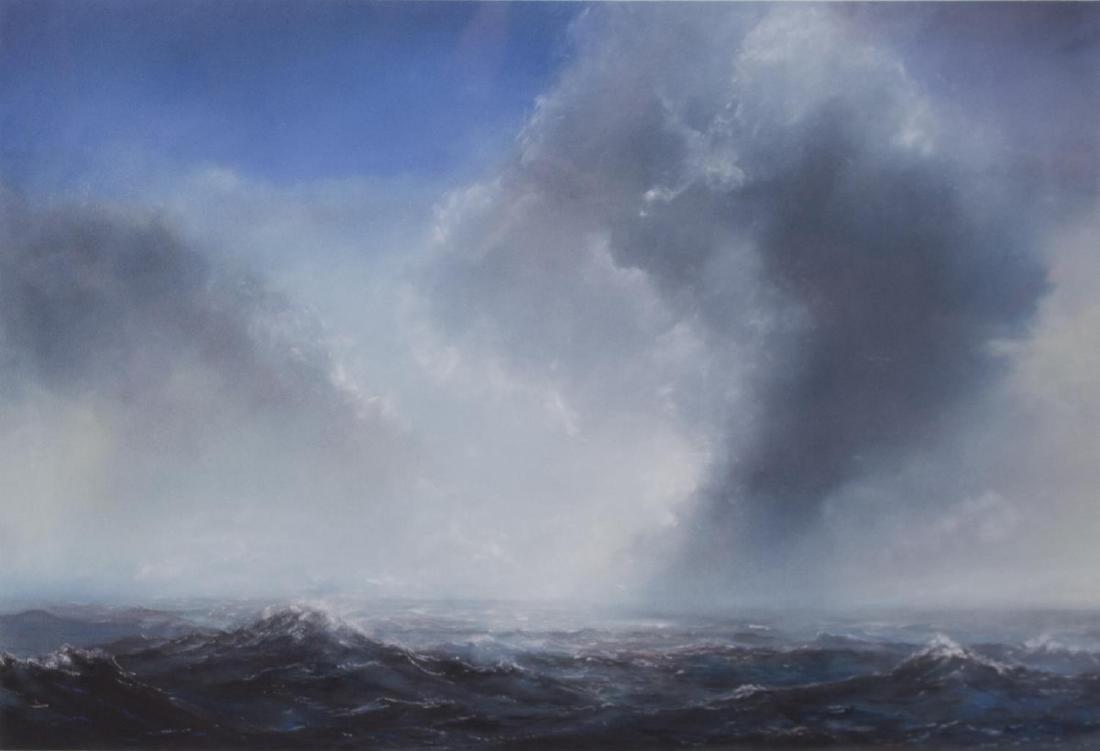 WILLIAM MCWHORTER OCEAN LANDSCAPE CHALK PASTEL