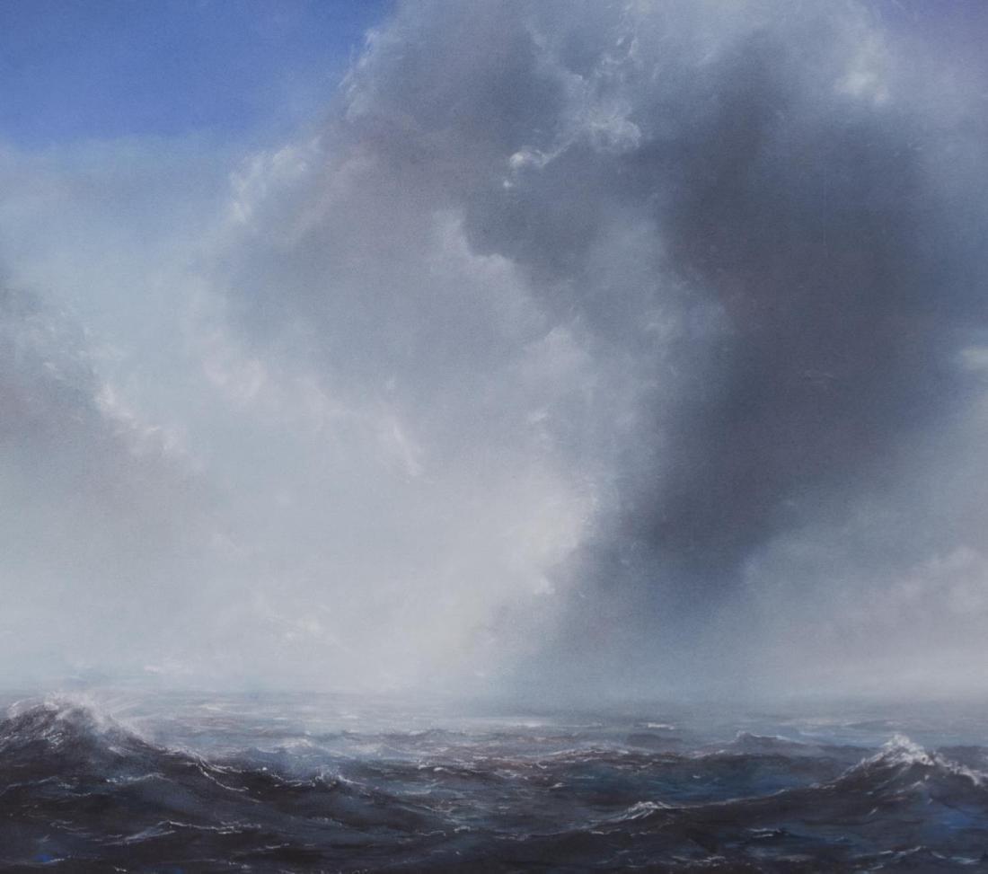 WILLIAM MCWHORTER OCEAN LANDSCAPE CHALK PASTEL - 3