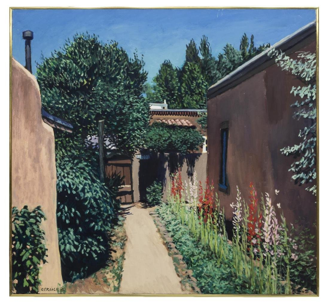 CHRISTOPHER GERLACH (1952) GARDEN PATH PAINTING