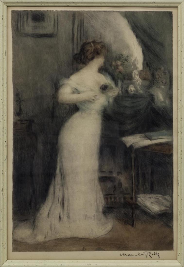 MANUEL ROBBE (1872-1936) BOUQUET DE VIOLETTES