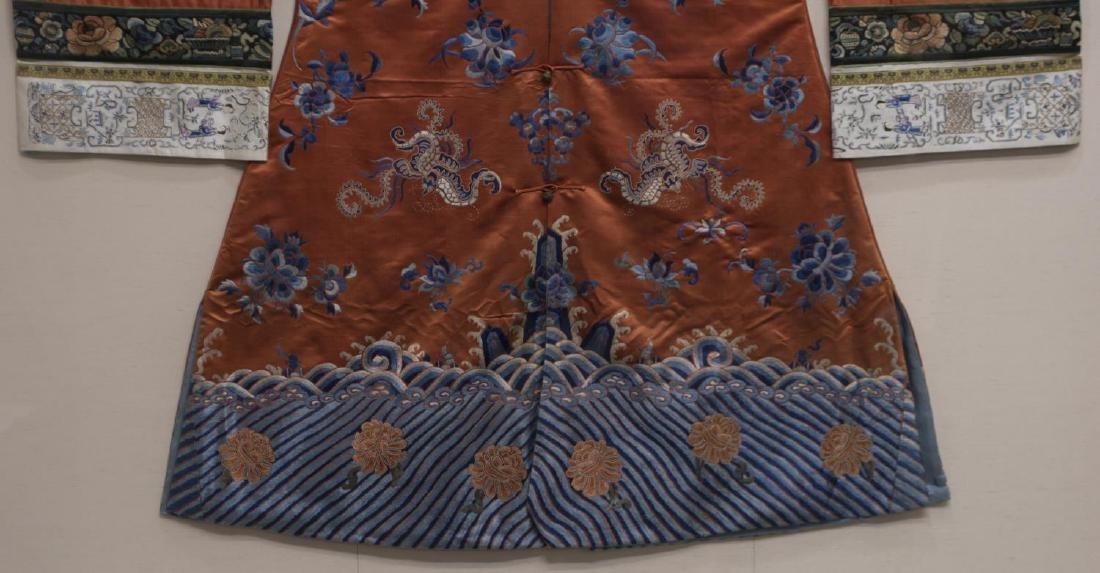 FRAMED CHINESE EMBROIDERED SILK ROBE - 3