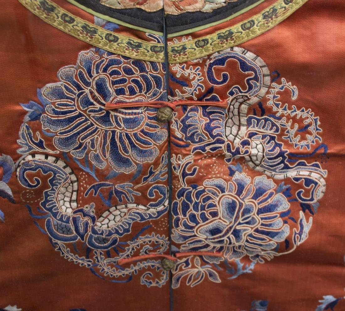 FRAMED CHINESE EMBROIDERED SILK ROBE - 4