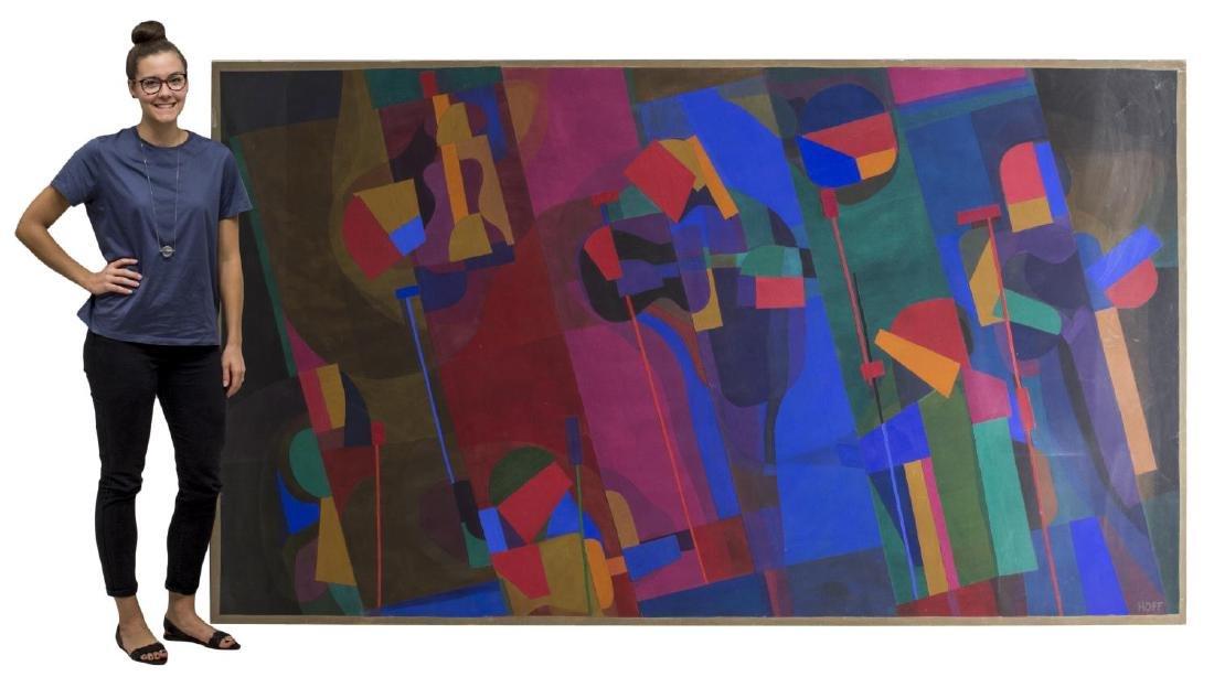 MARGO HOFF (ILLINOIS 1912-2008) CANVAS COLLAGE