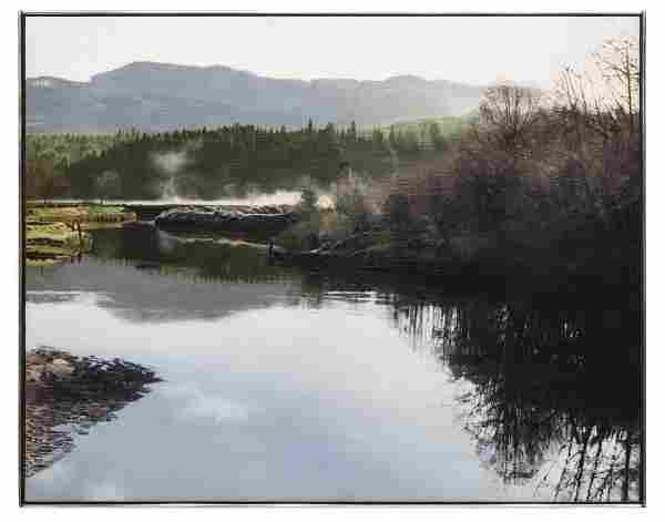 JAMES VAN PATTEN (WA B. 1939) LANDSCAPE WITH LAKE